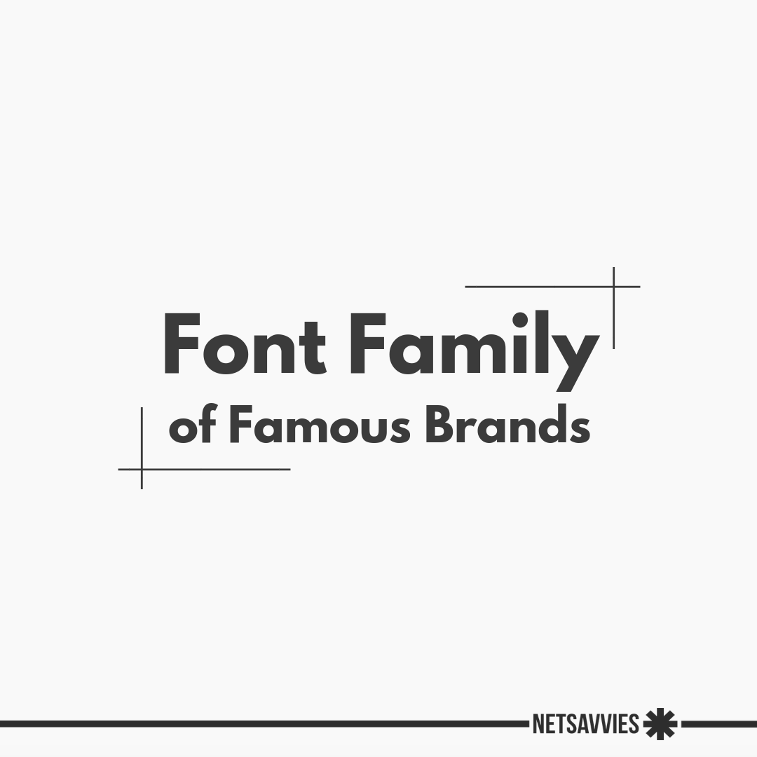 Font Family of Famous Brands