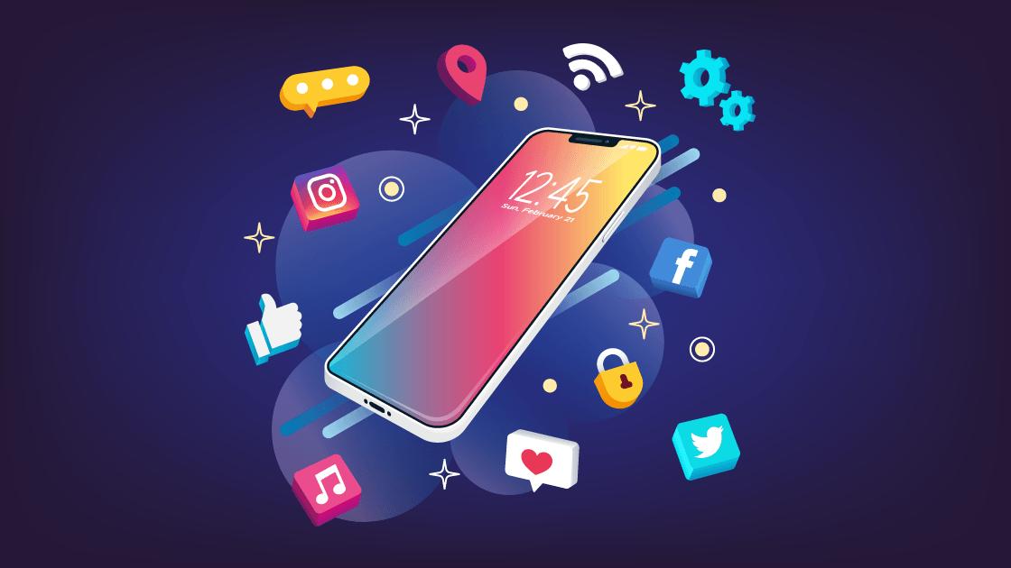mobile phone social media mobile app promote